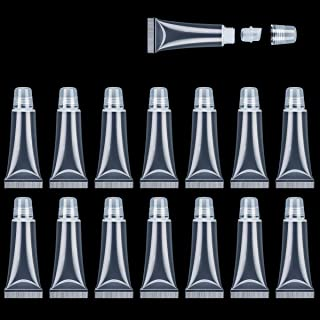Refillable Mini Clear Empty Lip Gloss Balm Container Soft Empty Tubes for DIY Lip Gloss Balm/Cosmetic 80 PCS 10 ML