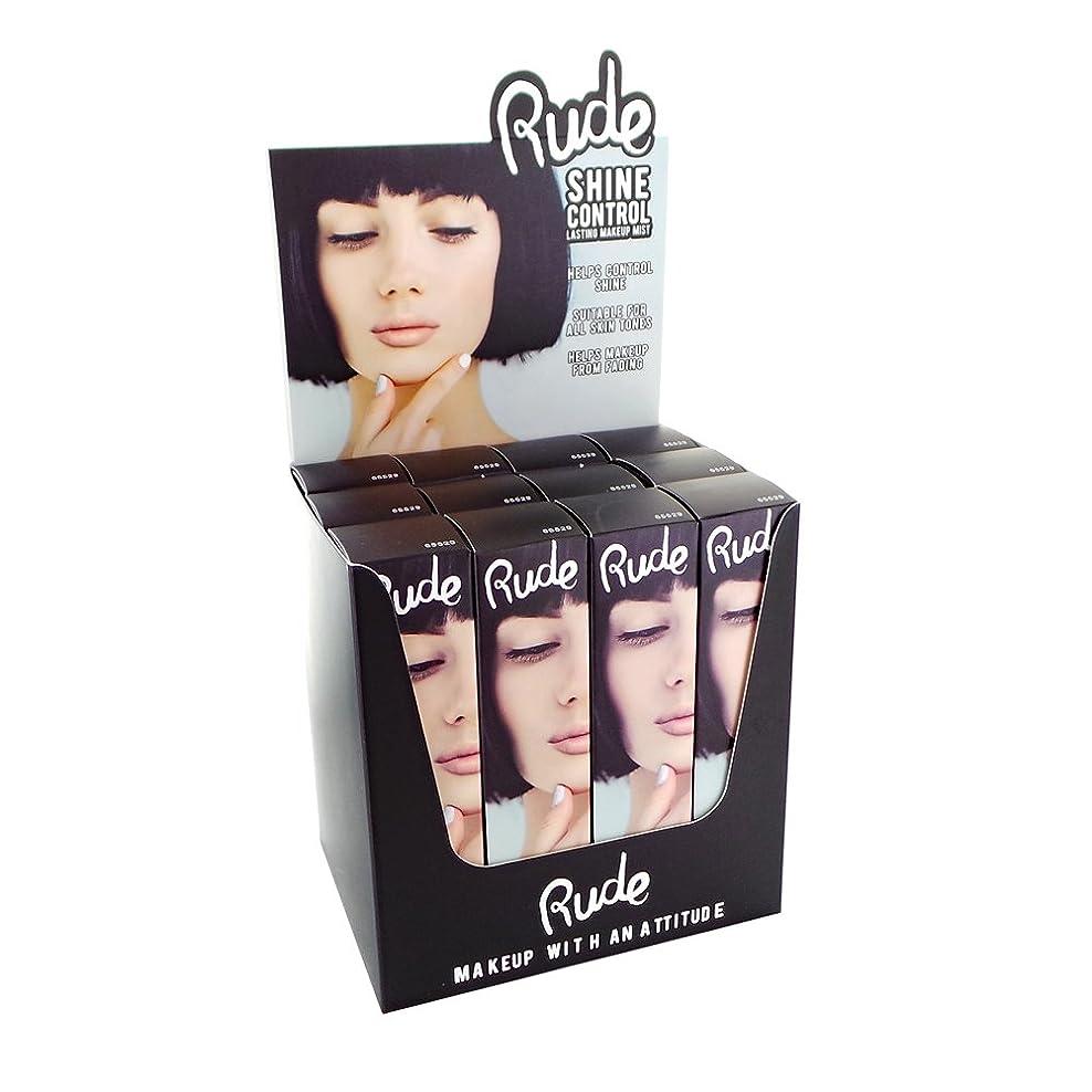 測定論理的合理化RUDE Shine Control Lasting Makeup Mist Display Set, 12 Pieces (並行輸入品)
