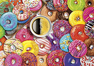 Buffalo Games - Aimee Stewart - Coffee and Donuts by Aimee Stewart - 300 LARGE Piece Jigsaw Puzzle