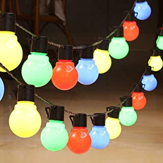 Solar Outdoor String Lights,21ft G30 String Festoon Lighting,Waterproof Indoor/Outdoor String Lights Perfect For Patio,Caf...
