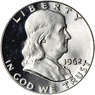 1962 Franklin 90% Silver Proof Half Dollar PF65