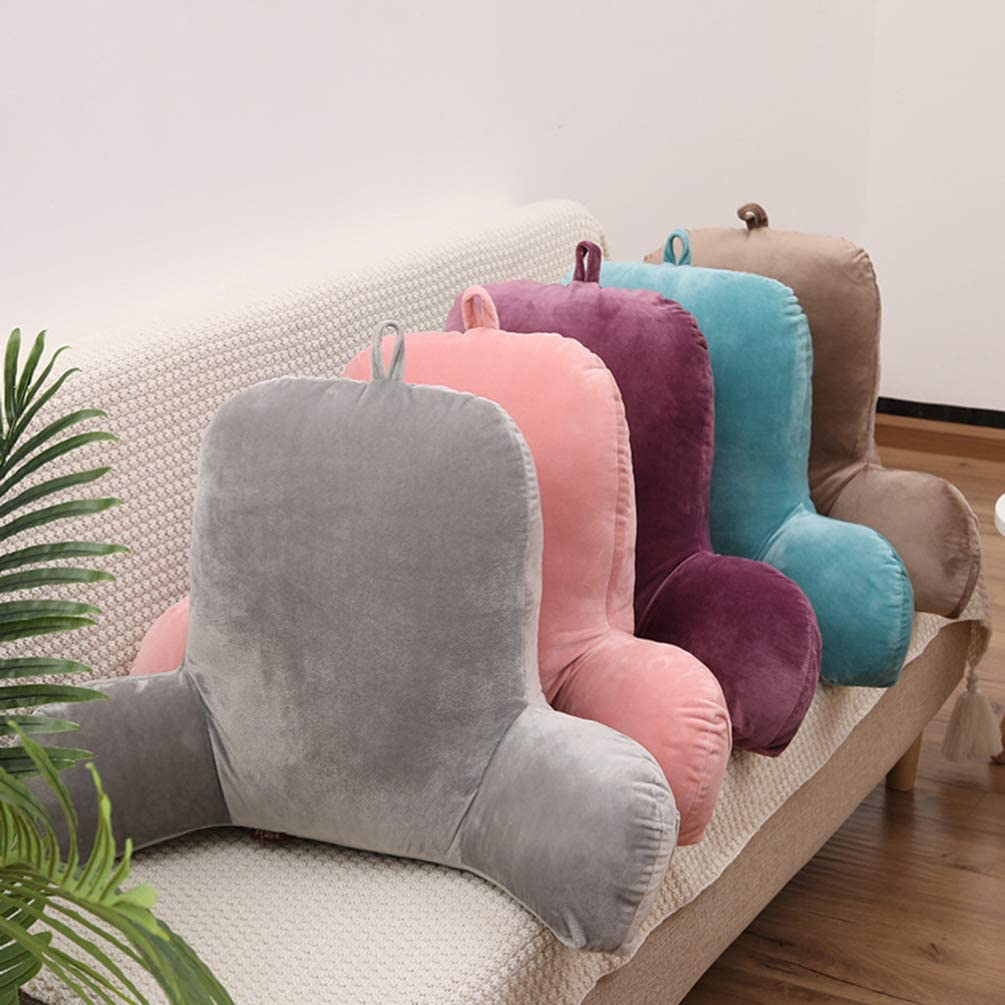 Green IMIKEYA Comfortable Back Support Cushion Sofa Rest Lumbar Cushion Plush Fabric Reading Cushion Throw Pillow for Pregnant Woman Home Office Driving