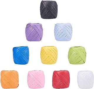 NBEADS 10 Rollen von 21,9 Meter Papier Kordeln Papier Craft Ribbon Bindfäden Taue Saiten für DIY Schmuck Machen, gemischte Farbe, 5 - 7 mm