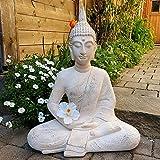 INtrenDU Buddha Figur Dhyana Mudra (Creme, 62cm)
