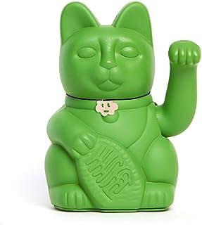 Gatete. El clásico Gato de la Suerte o la Fortuna o Maneki-Neko en divertidos colores. VERDE HULK: