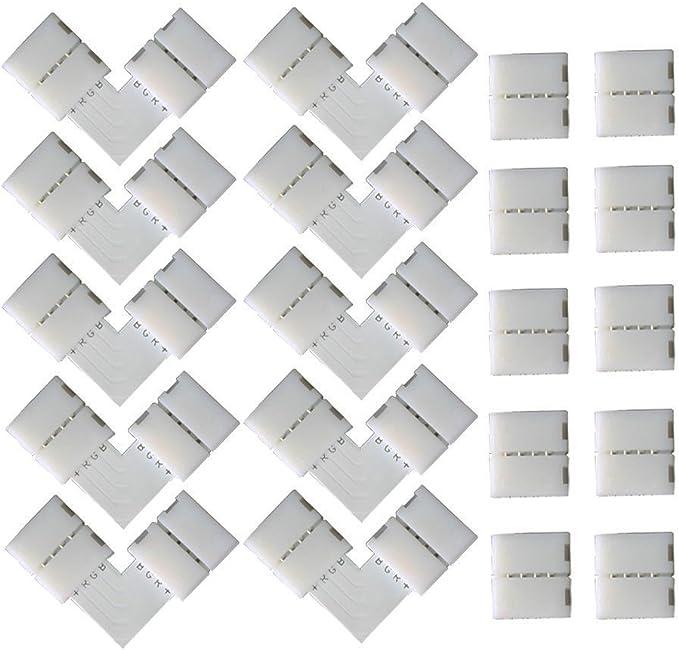 746 opinioni per CESFONJER 4 pin L-forma Connettore angolare (10 pezzi), 4 pin Strisce LED spina