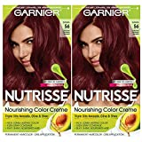 Garnier Hair Color Nutrisse Nourishing Creme, 56 Medium Reddish Brown (Sangria), 2 Count
