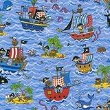 Fat Quarter Schatzinsel Pirat Schiffe 100% Baumwolle