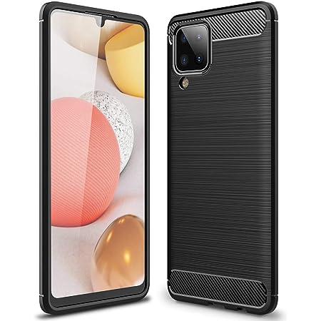 ALAMO Cover Ultra Silicone per Samsung Galaxy A12 / A12 Nacho / M12, Custodia Fibra Bumper Antiurto - Nero