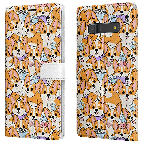 Lex Altern Wallet Case Compatible with Samsung Galaxy Note 20 Ultra 5G S20 S10 Plus S9 8 A71 A70 A50 A21 Paws Funny Corgi Protective Pet Puppies Flip Kawaii Cover Dogs PU Leather Cute Slim walh052