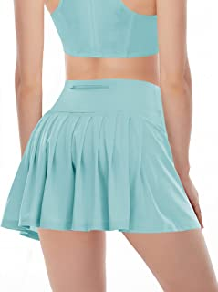 Pleated Tennis Skirts for Women Athletic Golf Skorts Activewear Running Sport Workout Skirts with Pockets Shorts