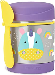 Skip Hop Baby Zoo Little Kid and Toddler Insulated Food Jar and Spork Set, Multi, Eureka Unicorn