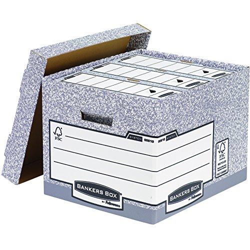 Bankers Box System Standard-Archivbox (Fastfold System) 10 Stück grau - 3