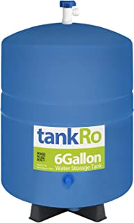 tankRo 6 Gallon RO Expansion Tank – Compact Reverse Osmosis Water Storage Pressure Tank with Free Tank Ball Valve