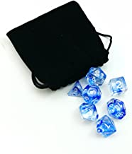 Nebula Polyhedral Dice Blue Complete 7pcs Set of d4 d6 d8 d10 d12 d20 d%