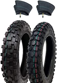 2.50x10 Knobby Tyre 2.5-10 Front or Rear Tire w// TR87 Inner Tube for Mini Dirt Bike XR50 CRF50 PW50 SDG107 KTM 50SX Morini Razor SX500