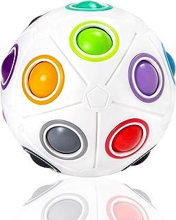 ROXENDA Grande Rainbow Ball avec 19 Balles Magique, Jeu de Compétences Puzzle Ball - Brain Teaser & Stress Ball pour Enfan...