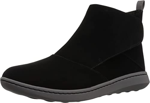 CLARKS Wohombres Step Move Up Ankle botas, negro Synthetic, 060 W US