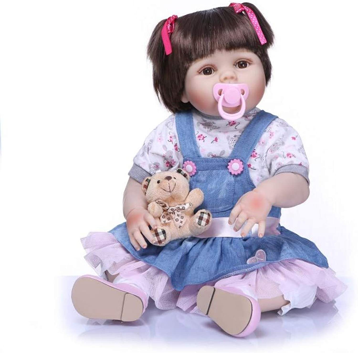 Rebirth baby doll 22 inch body soft silicone bathing doll handmade handmade newborn baby toy gift looks real doll toy over 3 years old