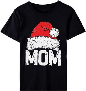 Harpily Moda Camicia Natale Donna Maglietta Manica Corta Donna T-Shirt 100% Cotone Maglietta Donne O-Collo Casuale Natale ...