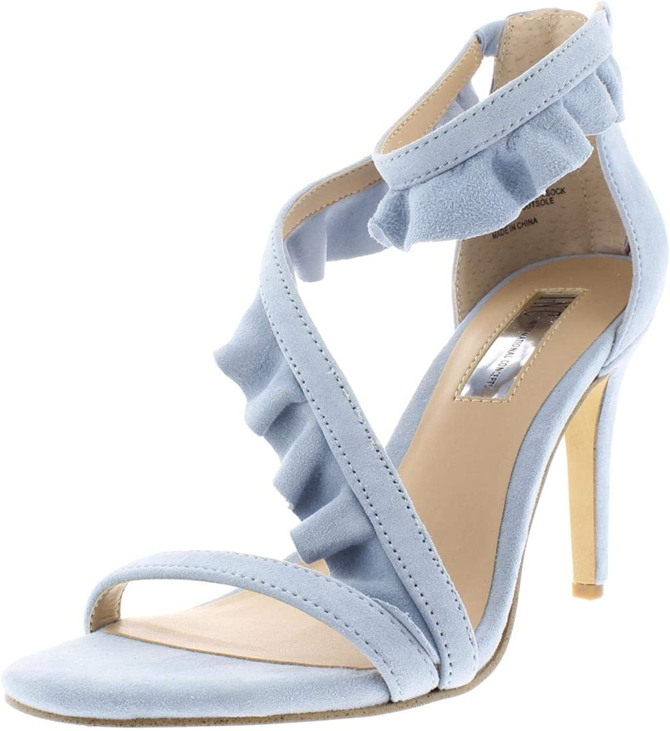 Inc Womens Rezza Suede Heels Dress Sandals bluee 8 Medium (B,M)