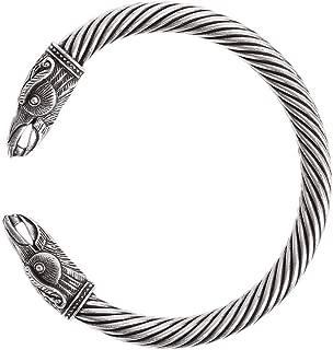 Viking Raven Bracelet Bangle Twisted Wire Raven Cuff