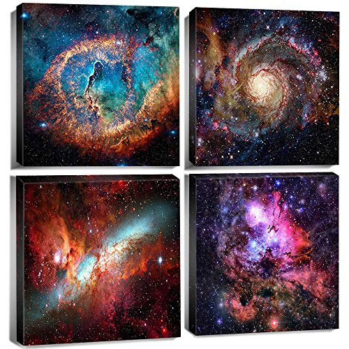 Space Decor Galaxy Wall Art Starlight Nebula Canvas Paintings Pictures for...