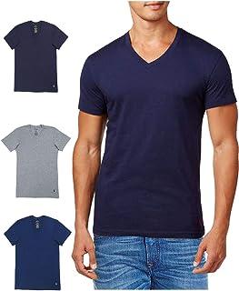 POLO RALPH LAUREN(ポロ ラルフローレン) メンズ スリムフィット Vネック コットン 半袖 Tシャツ 3枚セット ポロ ロゴ 紺 青 灰色 [RSVNP3/LSVN/p646u2o] [並行輸入品]
