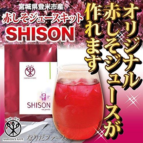 SHISON 赤しそジュースキット NARIDAヘルスサポート 宮城県 乾燥赤紫蘇パック12g(クエン酸付)×4袋