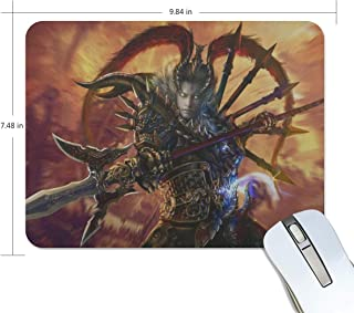 Mouse Pad Lu Bu Dynasty Warriors 8 Warrior Armor Spear Customized Rectangle Non-Slip Rubber Mousepad Gaming Mouse Pad Mat 9.8x7.5-inch