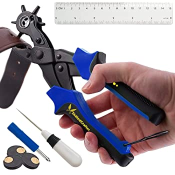 Leather Belts /& Boots Very Useful Item BN 7 Piece Hole Punch Set For Shoes