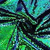 1 Metro Material de Lentejuelas Tela de Lentejuelas Reversible Azul Marino ShinyBeauty Tela de champ/án Brillante