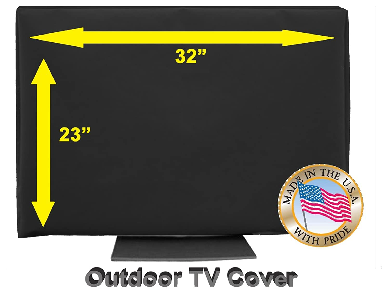 OUTDOOR TV COVER (32, Black (Not For Direct Sun))