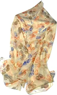 Shanlin Super Large Silk Feel Floral Scarves for Women in Gift Box