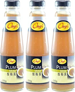 Ong's Plum Sauce, 255g, Pack of 3, Product of Singapore