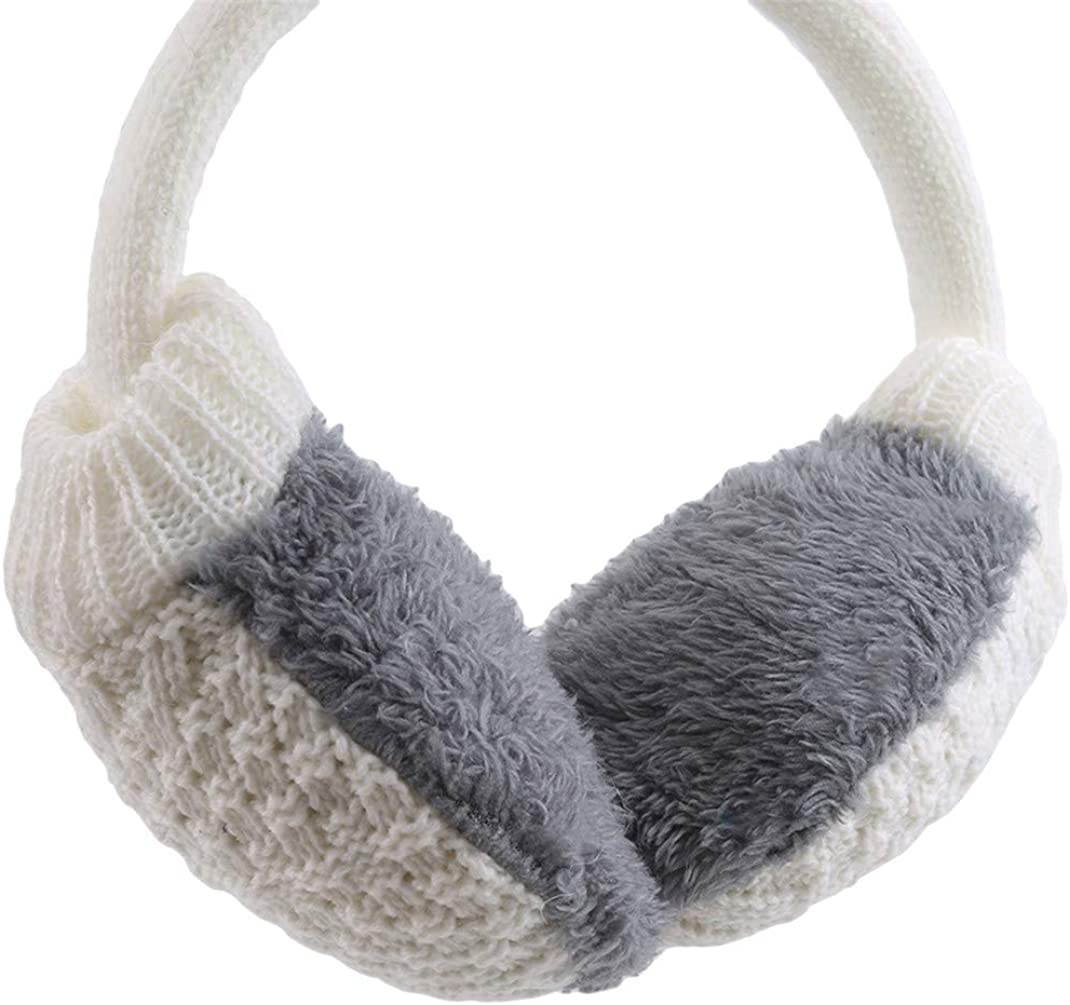 Airlove Unisex Knit Earmuffs Plush Earwarmer Winter Outdoor Earmuffs