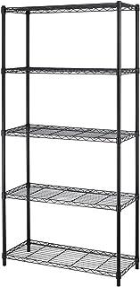 BestOffice 5-Shelf Home-Style Black Steel Wire Shelving 36 by 14 by 72-inch Storage Rack 5