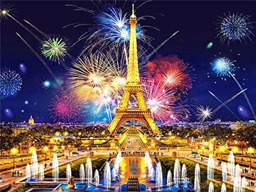 ZMGYA Puzzle de 1000 Piezas para Adultos Eiffel tower-1500 Adolescentes Rompecabezas de Piso de Impresión de Alta Definición Multicolor Obra de Arte de Juego de Rompecabezas para Adultos