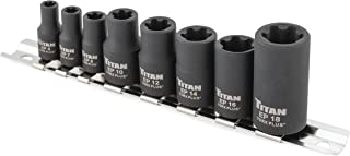 Titan 17418 8-Piece External Tors Plus Socket Set