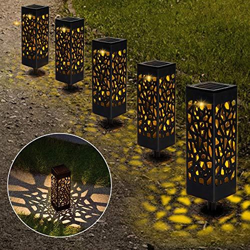 Lámparas Solares para Jardín, Nasharia 6 Piezas Luces Solar Exterior Jardin, IP65 Impermeable, Luces Solares de Jardín, Luz Solar de Césped, Farolillos solares de jardín para Camping, Jardín, Patio