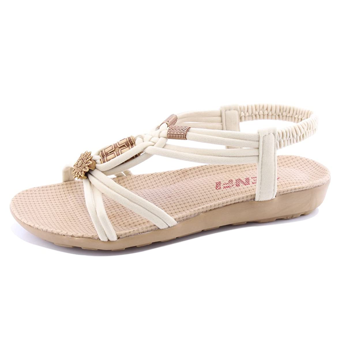 SENFI Women Summer Bohemia Elastic Strappy String Sandals