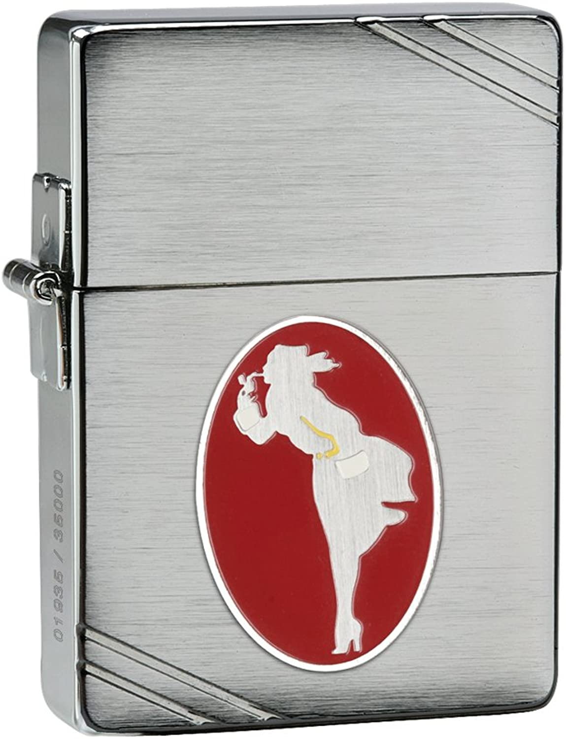 Zippo 1935 Replica Windy Collectible of the Year Pocket Lighter Brushed Chrome