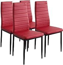 Albatros Milano Krzesła do jadalni 4 Stühle czerwony