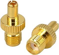 SMA Female Plug to TS9 Male Plug RF Coax Connector Adapter Pack of 2