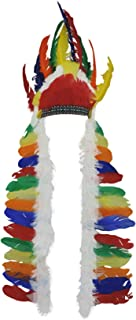 Native American Big Chief Indian Feather Headdress Hat