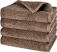 Set di asciugamani ad asciugatura rapida, 4 pezzi, PRETTY SEE Ultra Morbida 100% Cotone Set di 4 asciugamani per le mani...