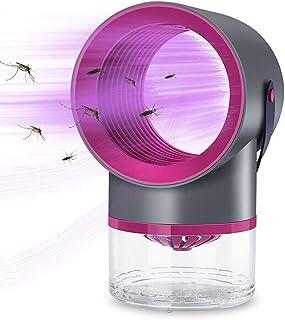 GUOJIN Lámpara Antimosquitos, Electrico UV Mosquitos Killer, Anti Mosquitos Interior, Carga por USB Sin Ruido Y Radiación, para Mata Mosquitos Insectos,Negro