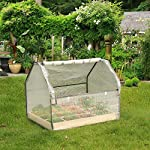 """Solid wood raised garden bed set for vegetable/flower/fruit 48"""" l×22"""" w×30"""" h box nature wood (raised garden bed) 11 material - translucent mesh-like pe cloth that prevents direct sunlight on the basis of easy observation of plant growth. The support tube is made of metal and is equipped with a plastic connection. No installation tools, easy to install and stable. Combined design - this wood raised garden bed can be combined with our other greenhouse to ensure the plant cultivation temperature throughout the greenhouse. The greenhouse and the raised garden are connected by metal buckles,the included installation tool can be easily installed. Special design - the product is equipped with a viewing port and can be opened and closed by a zipper. The product is equipped with a viewing port and can be opened and closed by a zipper. Facilitate observation of plant growth status and watering plants"""