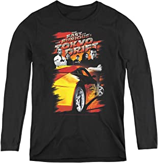 Tokyo Drift Drifting Crew Adult Long Sleeve T-Shirt for Women