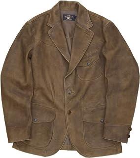 (ダブルアールエル) RRL ラフアウト スウェード シープ レザー スポーツコート ブラウン メンズ Roughout Suede Sportcoat 並行輸入品 [並行輸入品]